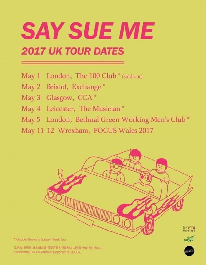 Say Sue Me UK Tour Dates
