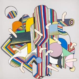 HaYoung Kim, God Finger III, 2012, acrylic on polyester, web